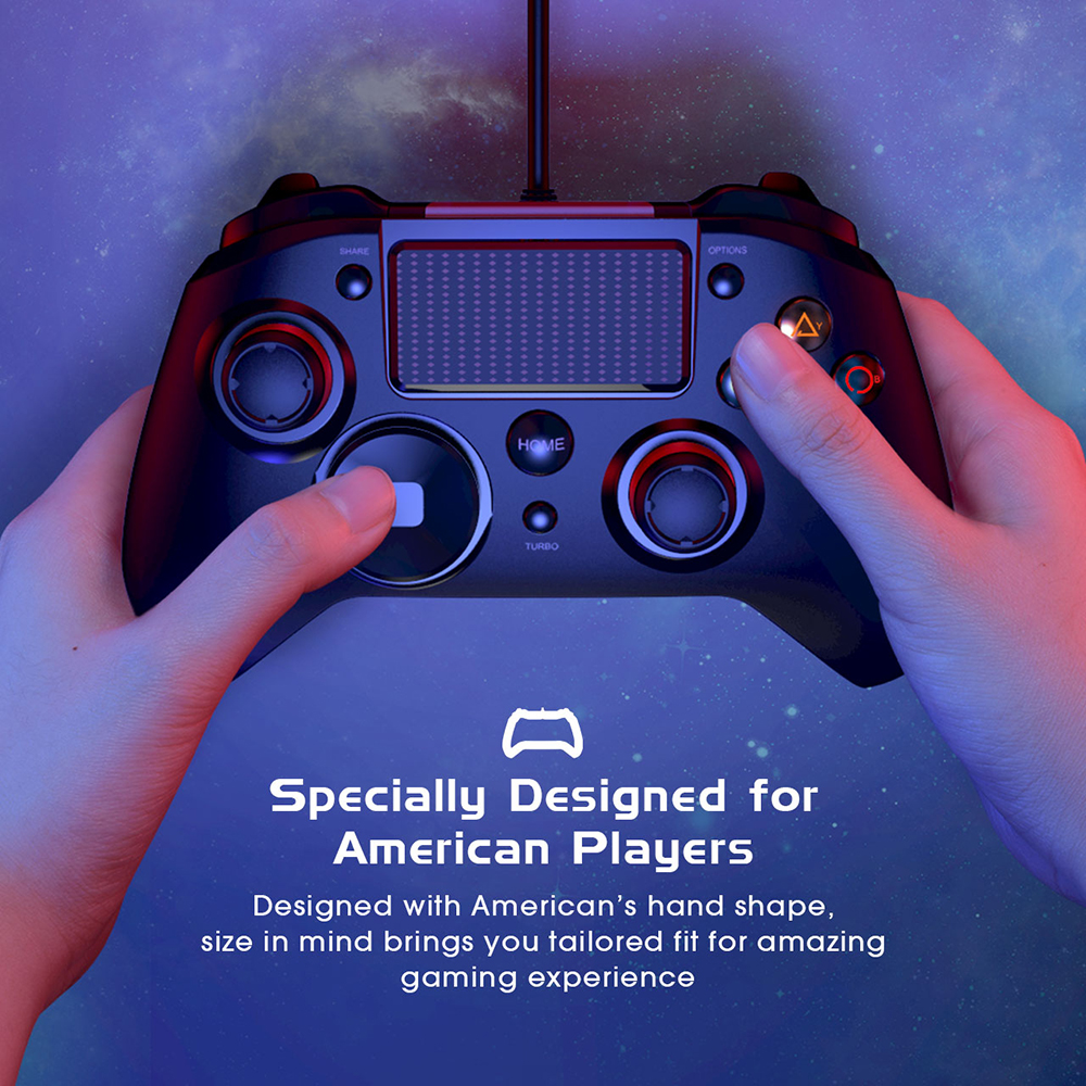 Mpow Wired Gamepads Game LED Light Gamepads Controller USB Gamepad With And Trigger Bottouns Gamepads For PS4PS3WinAndroid TV (4)