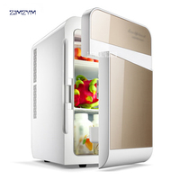 20L car home refrigerator mini fridge AC220V/DC12V Warmer Multi function Travel Refrigerator Portable Electric Icebox F L20SA