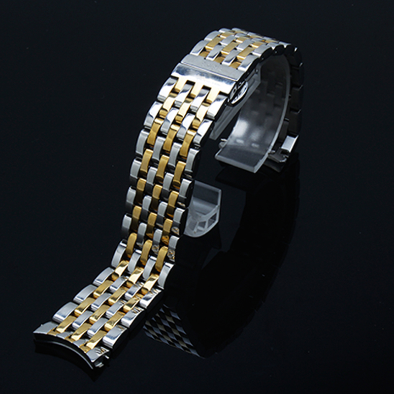 Image 5 - PEIYI Quality stainless steel watchband 20mm silver and rose gold metal wristband arc watch chain replacement for Tissto T063Watchbands   -