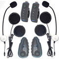 2 pcs V8 Motorcycle Helmet Bluetooth Intercom Helmet Headset Headphone 5 Riders Interphones FM Radio NFC Remote Control