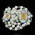 Our Lady of Guadalupe catholic rosary with 6 mm glass imitation bead