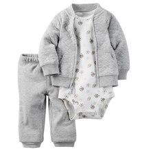 Наборы, bebes roupas ползунки мальчика розничная  куртка одежды ребенка девушки