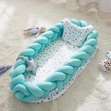 Портативная бионическая кровать для малышей, хлопковая колыбель, детская люлька, бампер, складная спальная кровать для малышей 0-2 лет