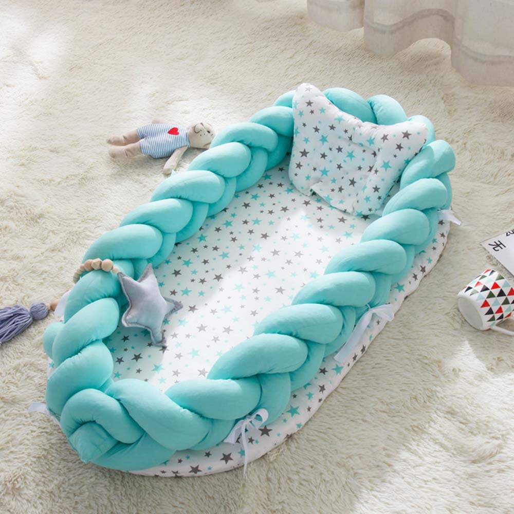 Portable Bionic Bed Toddler Cotton Cradle Baby Bassinet Bumper Foldable Sleeper Babynest 0-2Years