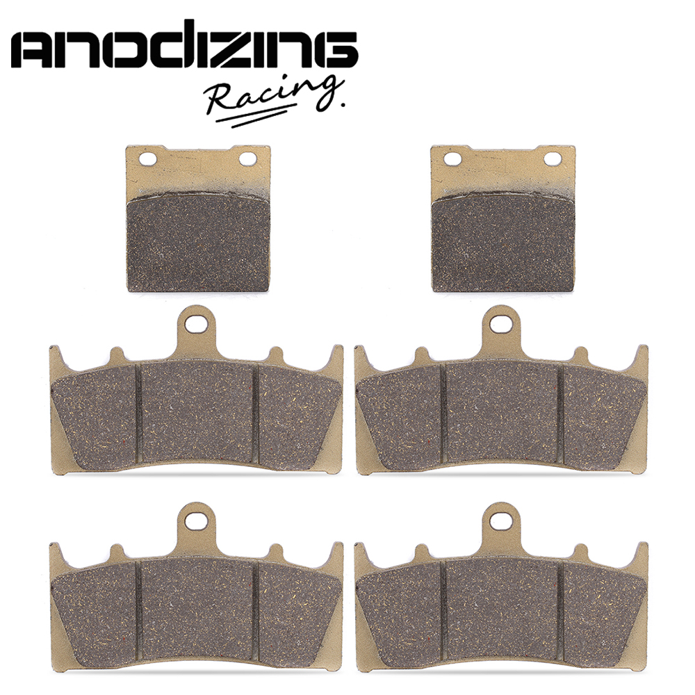 Motorcycle Front and Rear Brake Pads For KAWASAKI ZX-12R NINJA ZX1200 00-03 Ninja ZX7R ZX750P 96-03 ZRX1100 97-00 motorcycle front and rear brake pads for yamaha fzr 400 fzr400 3en1 1988 brake disc pad