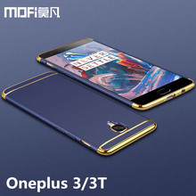 Oneplus 3 t чехол oneplus 3 задняя крышка Жесткий защитный Телефон САППУ MOFI оригинальный One Plus 3 oneplus 3 t случаев и охватывает