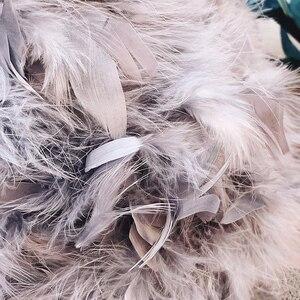Image 5 - 2018 冬のリアル女性ダチョウ羽ショルダーバッグチェーンバッグ desinger 女性スモールハンドバッグ女性ティーンエイジャークラッチ財布バッグ