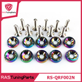 10 Pcs/Pack JDM Style Neo Chrome Fender Washers and Bolt for Honda Civic RS-QRF002N