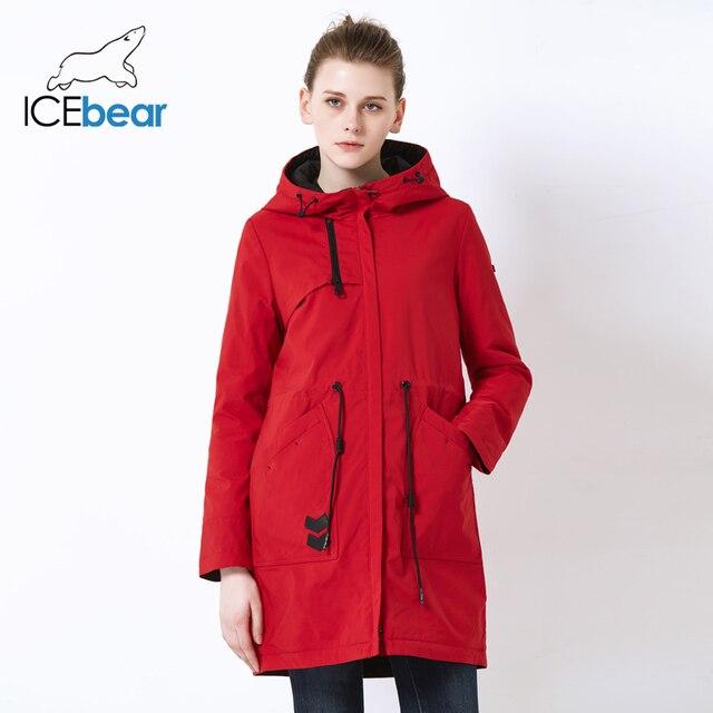 ICEbear 2019 новые спортивные дамы повседневная куртка ветрозащитная теплая весна куртка высокого качества куртка с капюшоном GWC19115