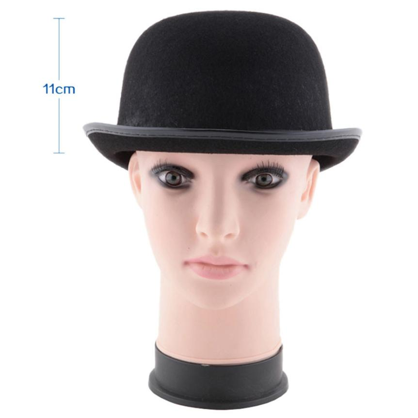 #5 2018 Fashion NEW Black Hat Halloween Magician Magic Hat Jazz Hat Black Cotton