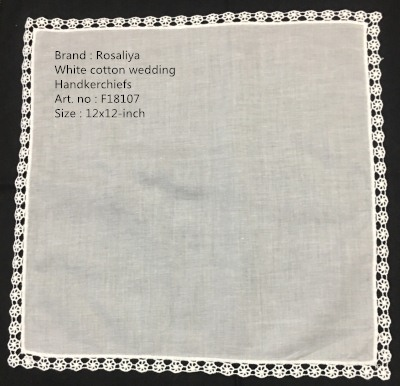 Set Of 12 Fashion Wedding Bridal Handkerchiefs Cotton Hanky Vintage Lace Hankies For The Mother Of The Bride Gifts12x12-inch