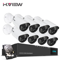 H View 16CH Surveillance System 1TB HDD 8 720P Outdoor Security Camera 16CH CCTV DVR Kit
