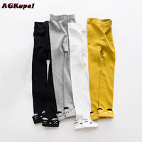 AGKupel Girls Leggings Spring Autumn Cotton Girls Pants Knitting Print Leggings For Baby Girl Children Clothing