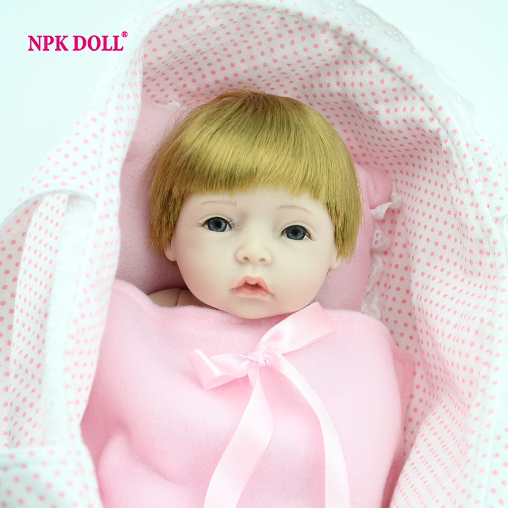 Full-Silicone-Baby-font-b-Doll 10 Inch Full Vinyl Doll Reborn Baby Dolls Handmade Soft Silicone Reborn  Dolls Lifelike Baby Toys