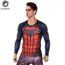 5e5a999d 2018 Spiderman Rashgard Men's Sport Running Shirt Quick Dry Long Sleeve  Soccer Training Compression T Shirt