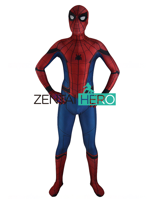 ZentaiHero 3D Print 2018 Spider-man Homecoming Spandex Zentai Costume Civil War Spiderman Costumes Spidey Cosplay Movies Suit