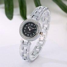 Durable New Arrival Watches Women Luxury Women Dress Watch Rhinestone Ceramic Crystal Quartz Watches Magic Women Wrist Watch Fem