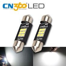CN360 2PCS Extremely Bright Canbus Error Free 31mm 36mm 39mm 41mm Festoon Dome C5W Car LED Light Bulb