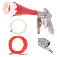 TL AB 04 Tube type High Pressure Pneumatic Cleaning Spray Gun Spraying Tools with Air Hose Brush Head for Dust Removal Car Wash