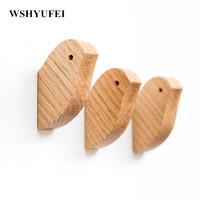 Hanging Housekeeper Creative Hanger Wall Hanging Birds Wall Decorations Wall Decorative Wall Decorative Solid Wooden Hangers