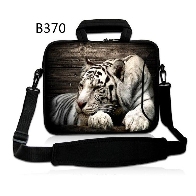 White Tiger Laptop Bags Messenger Shoulder Notebook Computer Laptop Sleeve Bag 13 14 15.6 inch for Macbook HP Lenovo ASUS DELL