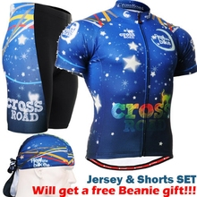 2017 man cycling jersey and shorts sets ocean blue Brand Pro Men Cycling Jersey Set Bicycle Clothes Cycling Jerseys Short Sleeve