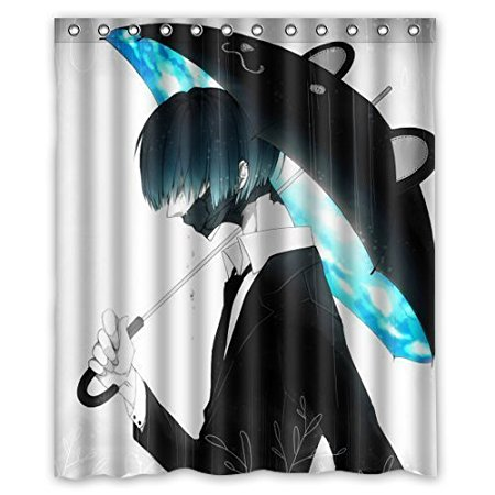 Cartoon Cool Boy Umbrella Waterproof Shower Curtains Bathroom Products Polyester 160x180cm Curtain