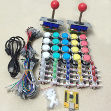 Arcade game DIY KIT FOR 2 players PC PS/3 IN 1 to arcade joystck LED button interface USB player MAME Interface Jamma