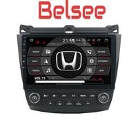 Belsee для Honda Accord 7 2003 2004 2005 2007 8,0 Android 2006 Автомобиль Радио DVD плеер навигации gps стерео головное устройство Octa Core HD