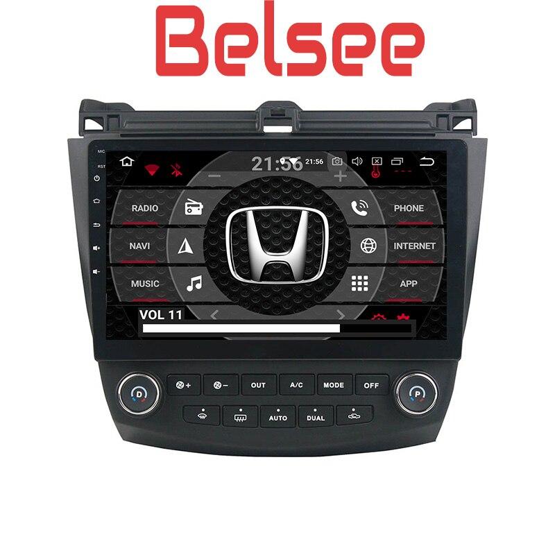 Belsee pour Honda Accord 7 2003 2004 2005 2006 2007 Android 8.0 voiture Radio Lecteur DVD de Navigation GPS Stéréo Tête Unité Octa Core HD