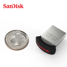 SanDisk USB Flash Drive Original USB3.0 ULTRA FIT CZ43 PENDRIVE 32GB 16GB 8GB Pen Drive Support official verification freeship