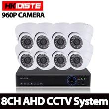 HD 8*2500TVL 8CH CCTV System 8 channel CCTV 1080P 1080N 720P 960H Video Surveillance DVR Kits 8X 960P Security Cameras System