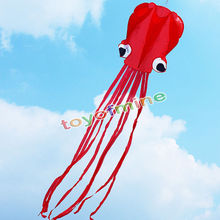 Octopus stunt fly kite single flying easy line red power to