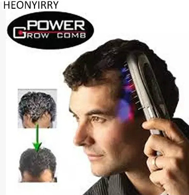 Electric Laser Treatment Power Grow Comb Kit Stop Hair Loss Hot Regrow Therapy New Sale Massage Comb Hair Growth Head Massager green sandalwood combed wooden head neck mammary gland meridian lymphatic massage comb wide teeth comb
