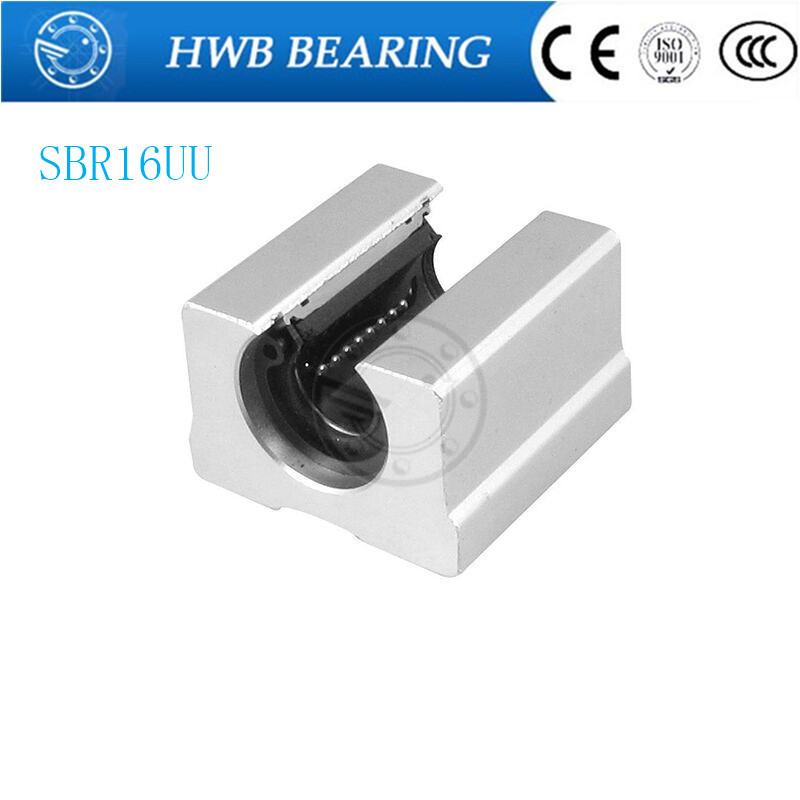 Free Shipping 4pcs SBR16UU aluminum block 16mm Linear motion ball bearing slide block match use SBR16 16mm linear guide rail free shipping sc16vuu sc16v scv16uu scv16 16mm linear bearing block diy linear slide bearing units cnc router