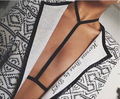 Hot sale rave wear pastel goth garter Suspender Belt Caged Harness Bra Bondage Lingerie Black Gothic Club Erotic retail