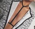 Hot sale rave wear pastel goth garter Suspender Belt Caged Harness Bra Bondage Lingerie Black Gothic Club Erotic retail