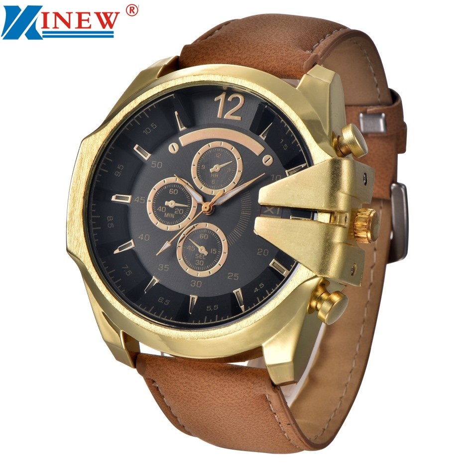 XINEW 2017 Relojes Hombre Men's Black Watches Leather Stainless Steel Quartz Military Wrist Watch Sport July1 relojes full stainless steel men s sprot watch black and white face vx42 movement