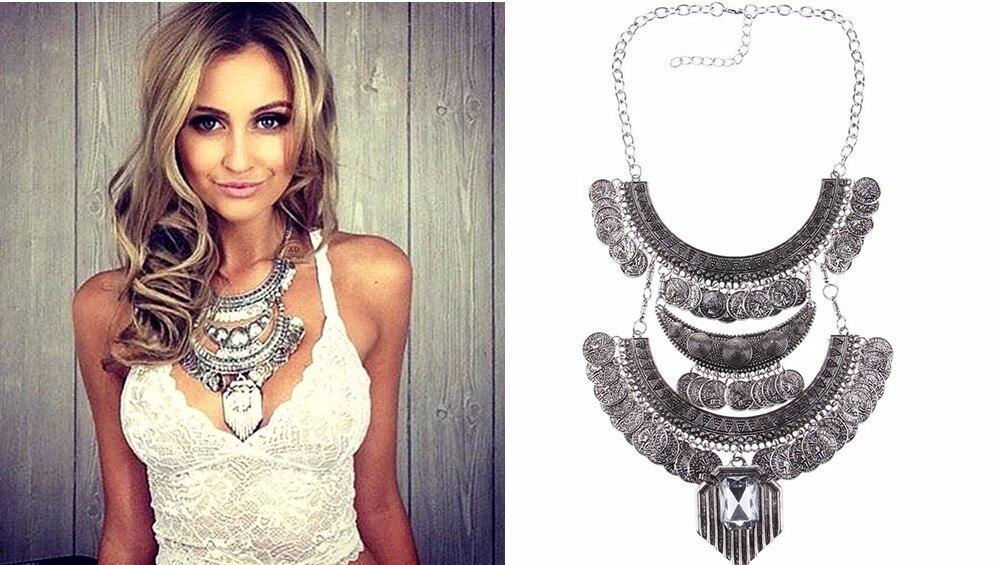 Ztech 18 Women Necklaces & Pendants Vintage Crystal Maxi Choker Statement Collier Femme Boho Big Fashion Jewellery Wholesale 9