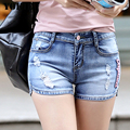 2016 New Hollow Out Ripped Women's Jeans Shorts Summer Style Sexy Hole Denim Shorts women Washes Fashion Hot Shorts Plus size