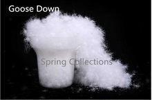 200 gr/los gewaschen unten 95% reine große weiße klebrige gans unten, DIY unten kissen jacke core mantel unten groß gans unten piumino donna