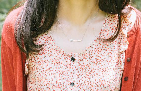 2014-Fashion-18k-gold-anniversary-inca-arrow-pendant-necklace-Free-Shipping (3)