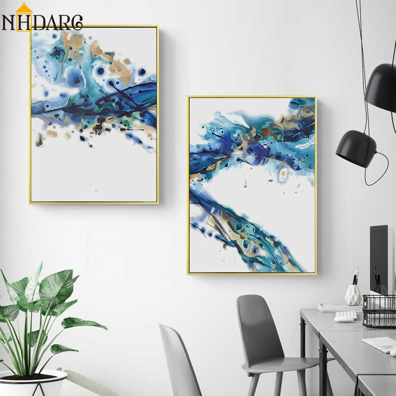 Modern Canvas Art Posters and Prints Nordic Wall Art Painting Abstract Style Pictures Decorative for Living Room Home Decor