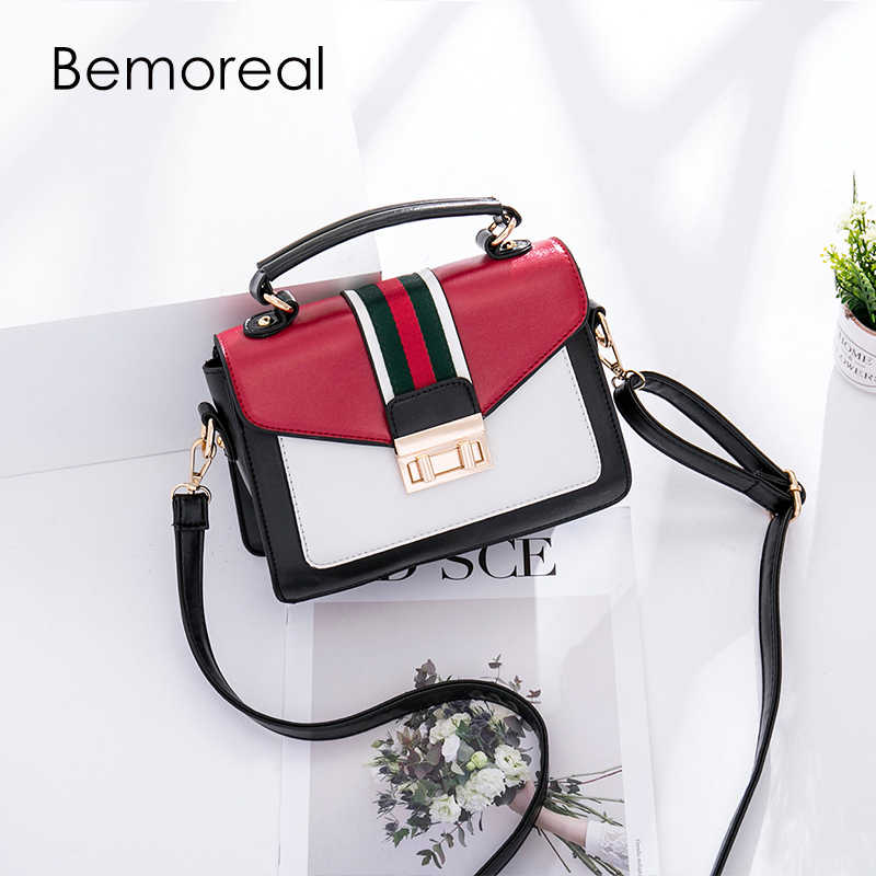 designer bags famous brand women bags 2018 PU Lock Fashion Panelled handbags small shoulder bag messenger bag Satchels