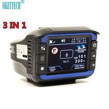 Okeytech Best 3 в 1 Видеорегистраторы для автомобилей анти Антирадары GPS 720 P 140 градусов Широкий формат русский сигнализации Системы 2.0 дюймов Экран дисплея