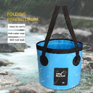 Outdoor Folding Bucket  Convenient Fishing Bucket Camping Picnic Folding Bucket Car Wash Bucket|Fishing Tackle Boxes| |  -