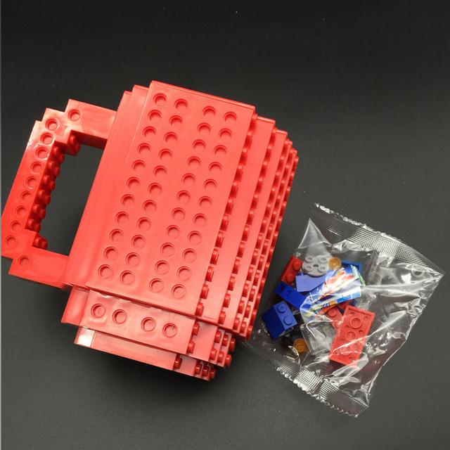 Build-On Brick Mug DIY Bulding Blocks Coffee Mugs 350 ml Creative Drinkware BPA Free  mug Birthday Gifts Tazas