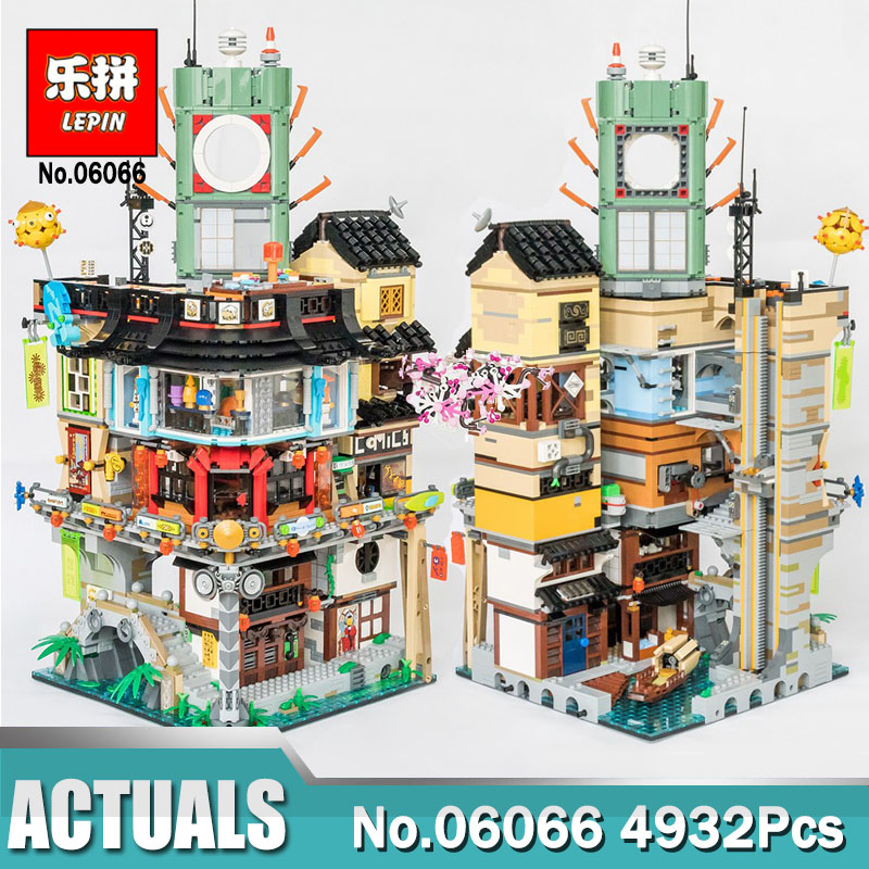 Lepin 06066 Ninjago City Masters of Spinjitzu Building 4953pcs Blocks Bricks Toys Compatible LegoINGly 70620 As Christmas gift