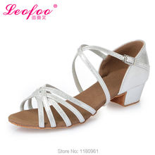 Kids' Dance Shoes Ballroom/Latin Shoes Party shoes Kids' Sneakers  Heel 3.5cm silver Gold PU leather Factory direct sale L33