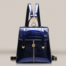 O Bag Bolsos Bag Women 2016 Fashion Female Crocodile Pattern Patent  Leather Woman Handbags/High Shoulder Handbag Messenger Bags